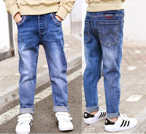 Весенние зауженные стильные джинсы для мальчиков