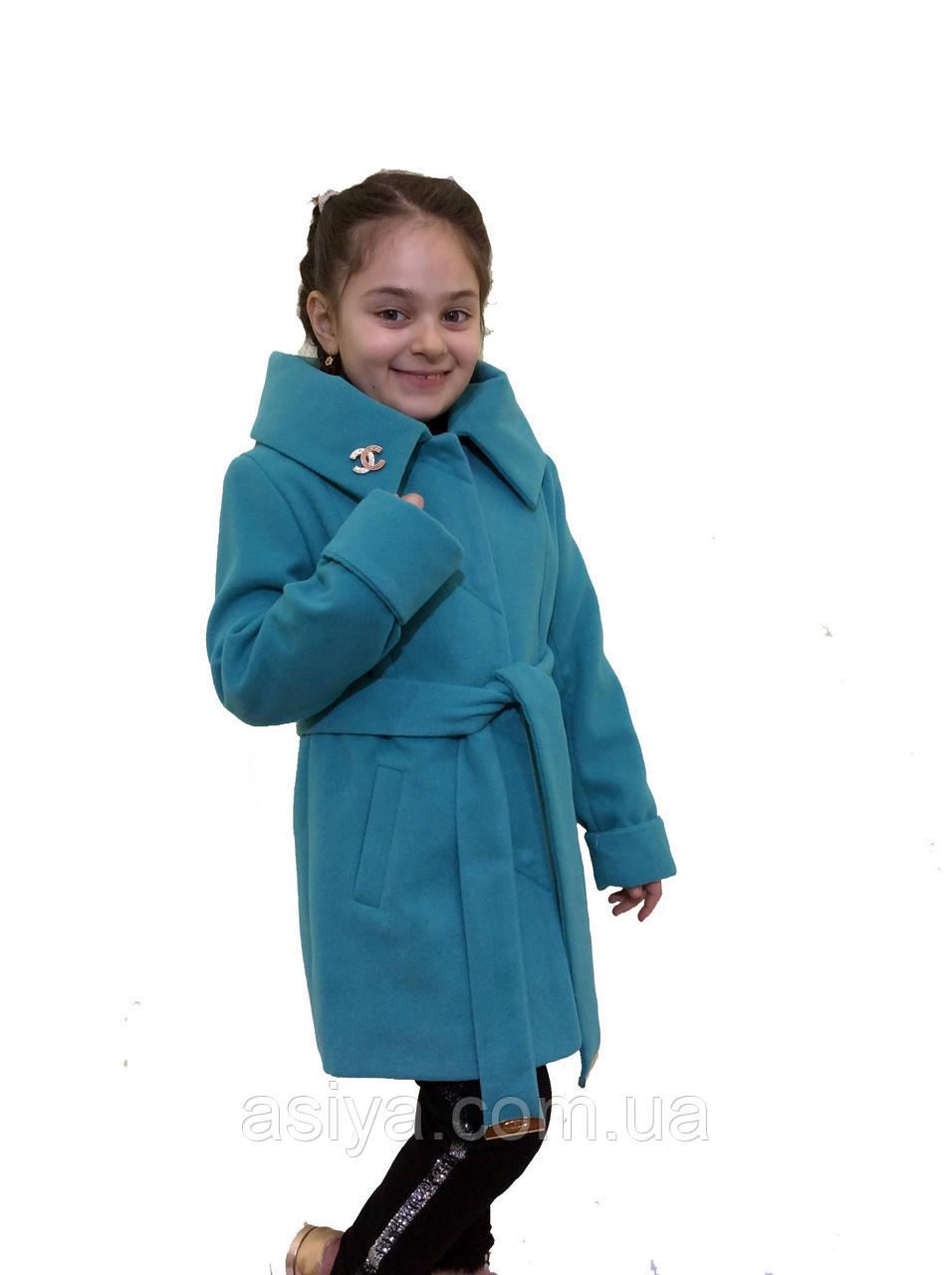 """Кашемірове пальто для дівчинки """"Шанель"""""""