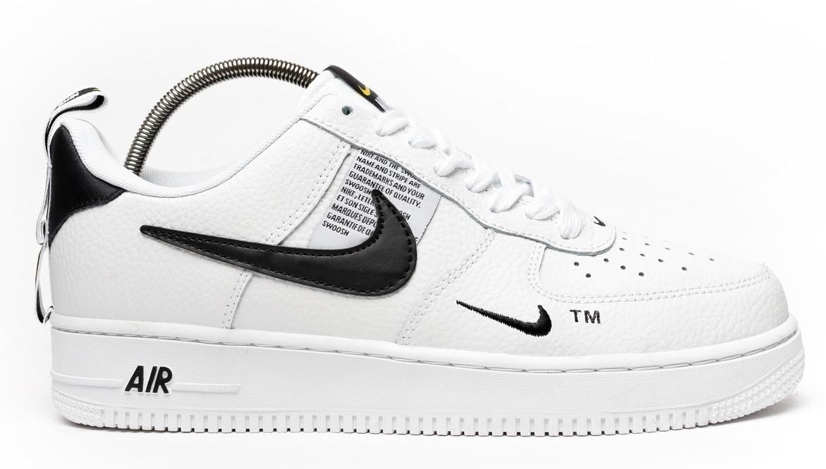 d80a6b89 Мужские кроссовки Nike Air Force 1 Utility White (найк аир форс 1, белые)