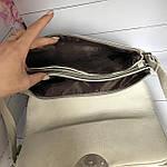 Модная женская бежевая сумочка, фото 9