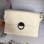 Модная женская бежевая сумочка, фото 5