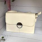 Модная женская бежевая сумочка, фото 4