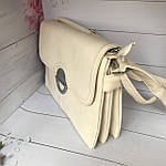 Модная женская бежевая сумочка, фото 6