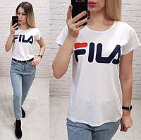 Женская футболка  реплика Fila 100% катон качество турция
