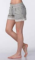Женские летние трикотажные шорты серые, фото 1