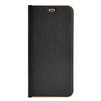 Кожаный чехол-книжка для Huawei P Smart Plus (INE-LX1) чёрная Florence TOP №2