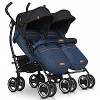 Прогулочная коляска для двойни EasyGo Duo Comfort 2019 Denim (9320)