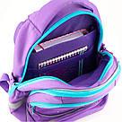 Рюкзак школьный Kite Education для девочек Lovely Sophie 36x27x16 см 21,5 л Фиолетовый (K19-724S), фото 5
