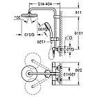 Grohe Tempesta 27922001 душевая система с термостатом для настенного монтажа, фото 2