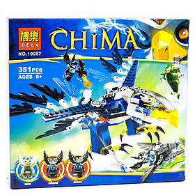 Конструктор Bela 10057 Чима. Перехватчик Орлицы Эрис (аналог Lego Legends of Chima 70003)