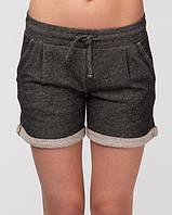 Женские летние шорты темно-серые
