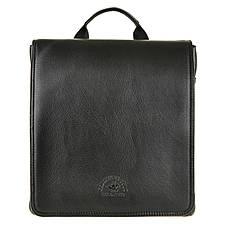 Мужская сумка-мессенджер POLO CLUB вертикальная 2 отдела 27х24х7  кс6001-3ч, фото 3