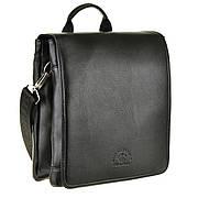 Мужская сумка-мессенджер POLO CLUB вертикальная 2 отдела 27х24х7  кс6001-3ч
