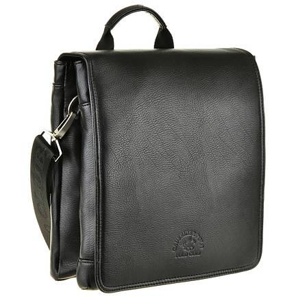 Мужская сумка-мессенджер POLO CLUB вертикальная 2 отдела 27х24х7  кс6001-3ч, фото 2