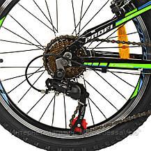 Велосипед детский PROF1 20 Д.  G20A315-L-1B черно-салатовый, фото 3