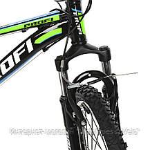 Велосипед детский PROF1 20 Д.  G20A315-L-1B черно-салатовый, фото 2