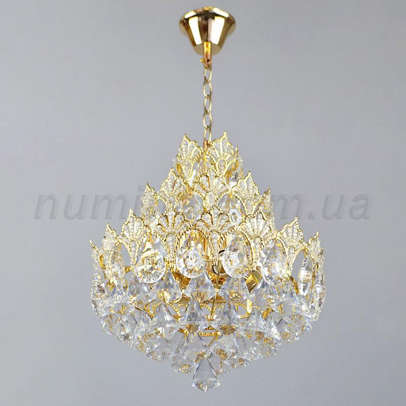 Люстра подвесная на шесть лампочек  3-E1243/6 хрустальная
