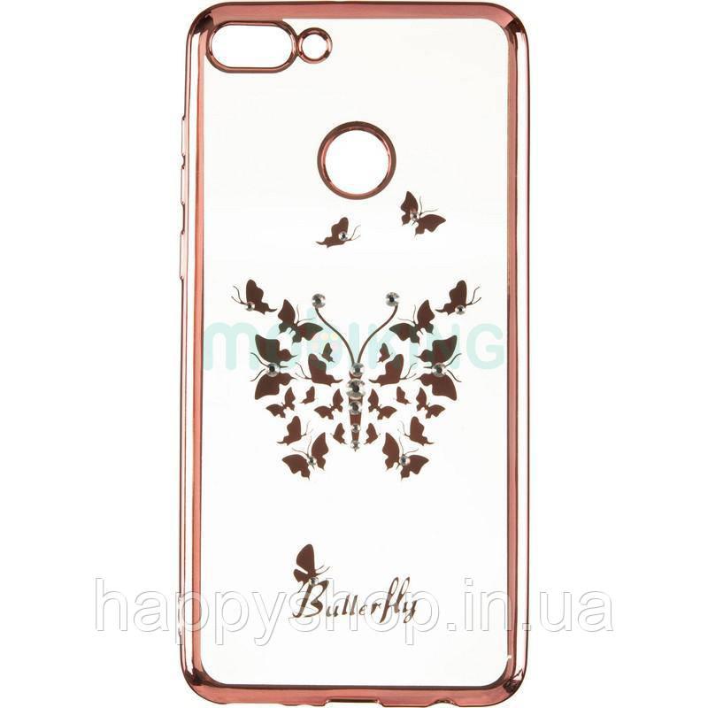 Силіконовий чохол Beckberg для Huawei Y9 2018 (FLA-LX1) Butterfly