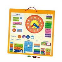 Календар магнітний Viga Toys (50377) англійською мовою