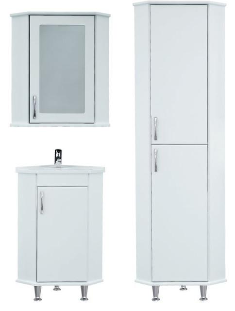 Серия УГЛОВАЯ мебель для ванной комнаты