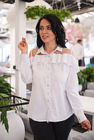 Рубашка женская с сеточкой в расцветках 28742, фото 1