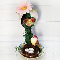 Цветочная композиция Топиарий Парящая чашка  Оригинальный подарок Ручная работа