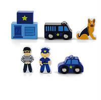 """Дополнительный набор к железной дороге (ж/д) Viga Toys """"Полицейский участок"""" (50814)"""