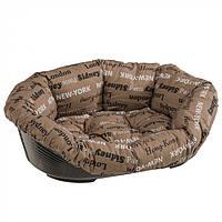 Подушка и пластиковый лежак для собак и кошек Ferplast SOFA