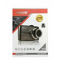 Автомобильный видеорегистратор Anytek G66 1080 P супер full hd ADAS DWR HDR двойной объектив