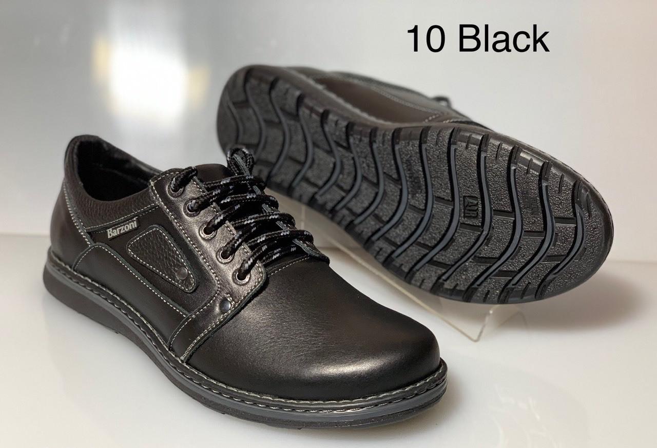 e1b088137 Кожаные стильные мужские туфли Barzoni model 10 , черные : продажа ...