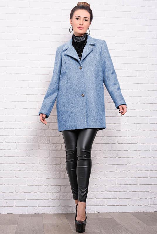 Пальто на пуговицах Бониэль, голубого цвета