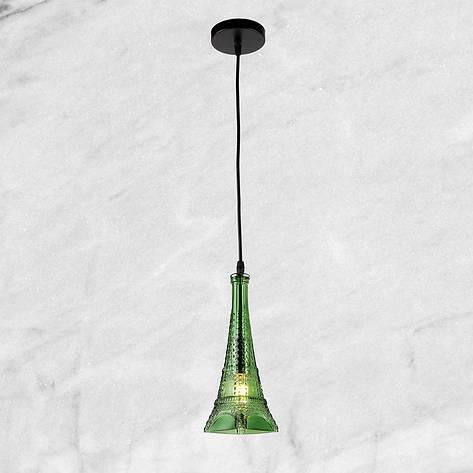 """Стеклянный подвес """"Эйфелева башня"""" (58-864-1) Зелёный, фото 2"""