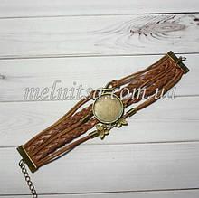 Браслет с основой под кабашон или микровышивку 25 мм, цвет коричневый