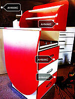 Маникюрный стол с выдвижными ящиками и откидной столешницей