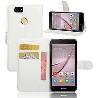 Чехол-книжка Litchie Wallet для Huawei Nova Белый
