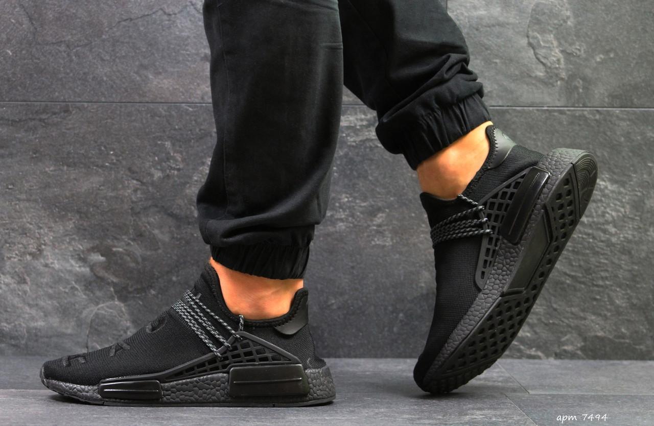 Кроссовки Мужские Adidas NMD Human Race,сетка,черные  42р