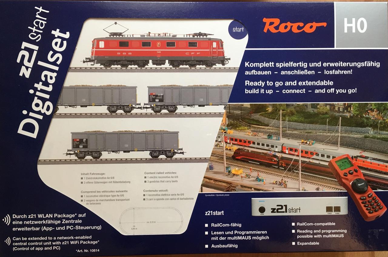 Roco 51296 стартовый набор грузовой поезд с электровозом 1/87