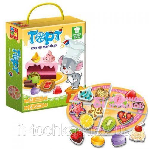 Детская магнитная игра vladi toys Торт vt3004-01