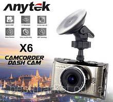 Автомобильный видеорегистратор с дисплеем Anytek X6