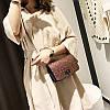 Блестящая коричневая сумка через плечо, фото 2