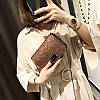 Блестящая коричневая сумка через плечо, фото 3
