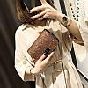 Cумка блестящая коричневая через плечо, фото 3