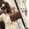 Cумка блестящая коричневая через плечо, фото 4
