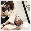 Cумка блестящая коричневая через плечо, фото 5