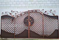 Кованые ворота с калиткой всередине 2091, фото 1