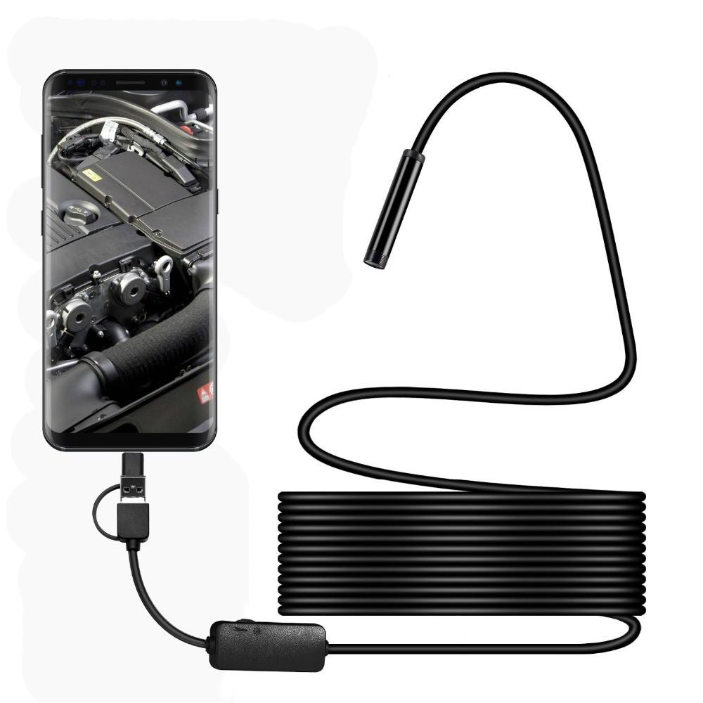 Android камера эндоскоп, видеоскоп 2 м 7 мм