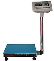 Электронные торговые весы (до 150 кг) с платформой и счетчиком цены на стойке DJV /43