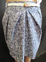 Джинсовые юбки с пояском., фото 1