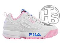 58a522a2173b22 Женские кроссовки Scarpa Bassa Fila Disruptor Low The Candy Shop  White/Pink/Blue