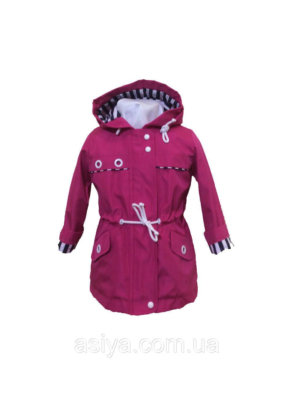 Куртка ветровка на флисе малинового цвета